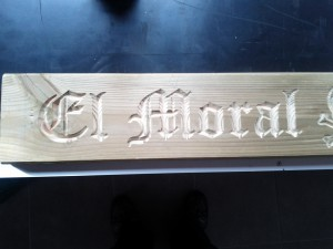 Grabado Letras goticas CNC Casera