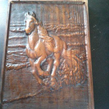 Grabado en madera: Caballo
