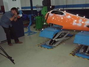 Escaneado 3D de la carcasa inferior del vehiculo