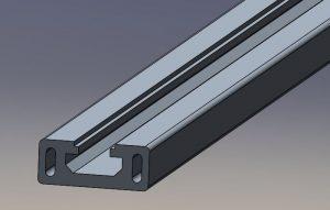 Perfil de aluminio para la bancada