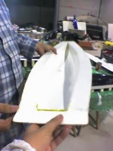 Molde velero RC fibra vidrio