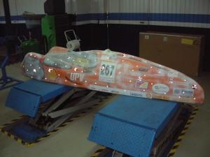 Escaneado 3D de la carcasa superior del vehiculo