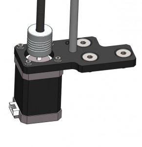 Detalle del motor y el acople elastico